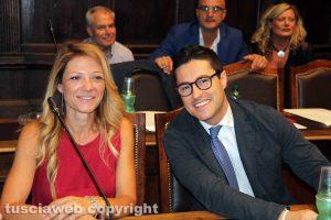 Viterbo - Consiglio comunale - Elisa Cepparotti e Andrea Micci