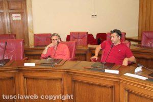 Viterbo - Consiglio provinciale - Francesco Serra e Maurizio Palozzi