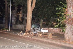 Viterbo - L'incidente a viale Trieste