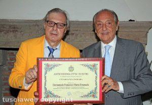 Sutri - Vittorio Sgarbi ed Emmanuele Emanuele