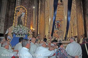 Viterbo - Salta la processione della Madonna del Carmelo