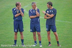 Sport - Calcio - Viterbese - Da sinistra: Antonio Niccolai, Giovanni Lopez e Paolo Gobattoni