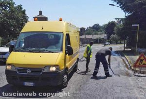 Montefiascone - La fuoriscuta del gasolio in via Cardinal Salotti