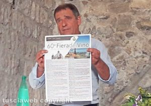 Montefiascone - Presentazione della 60esima fiera del vino - L'assessore Massimo Ceccarelli