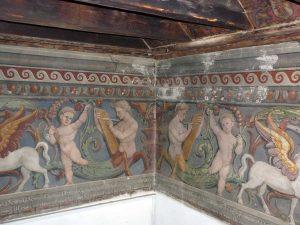 Lavori di restauro a Palazzo Gallo a Bagnaia