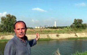 Montalto di Castro - Il sindaco Sergio Caci nel video a ridosso della centrale