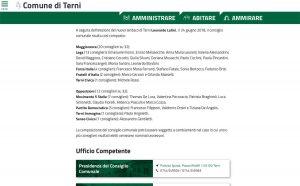 Consiglio comunale - Il sito internet del comune di Terni