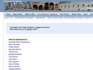 Viterbo - Consiglio - Il sito internet del comune