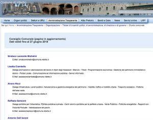 Viterbo - La giunta - Il sito internet del comune