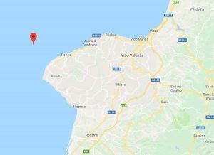 Scossa ti terremoto al largo di Tropea