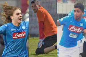 Sport - Calcio - Da sinistra: Zerbin, Forte e Otranto