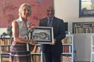 Caprarola - La visita dell'ambasciatore di Germania Susanne Wasum-Rainer