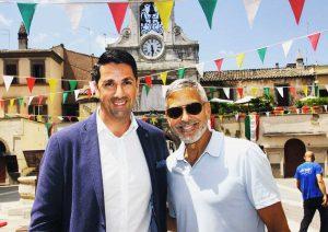 Sutri - George Clooney con Felice Casini