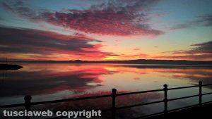 Bolsena - Il tramonto sul lago di Bolsena