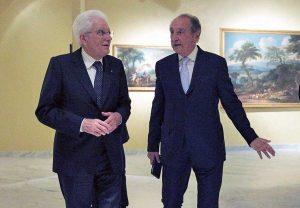 Sergio Mattarella e Emmanuele Emanuele, cittadino onorario di Sutri