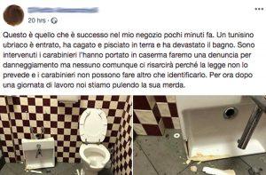 Tarquinia - Il post della proprietaria di un negozio sul suo bagno danneggiato
