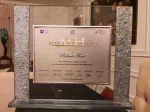 La targa di Roberto Ferri, vincitore del premio Margherita Hack 2018
