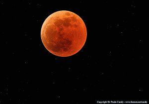 Eclissi totale di luna - Fase totale