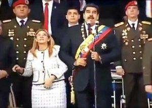 Caracas - Il discorso di Maduro interrotto dalle esplosioni