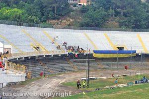 Sport - Calcio - Viterbese - I tifosi gialloblù ad Ascoli