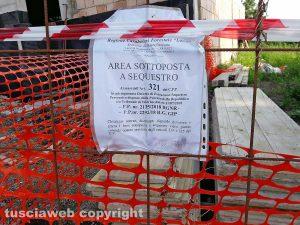 Montefiascone - Il cantiere sequestrato in via Bertina