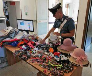 Carabinieri - La merce sequestrata