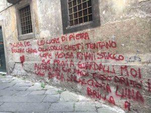 Viterbo - Scritta sul muro in via Fontanella del Suffragio