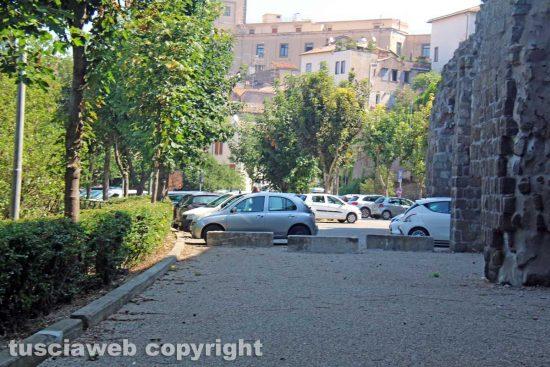 Il parcheggio di via Sant'Antonio all'uscita dell'ascensore