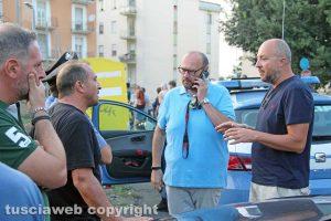 Viterbo - Caos al Pilastro - Da destra, Mauro Rotelli e Paolo Bianchini (FdI)