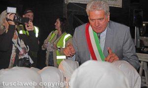 Viterbo - Il sindaco Giovanni Arena