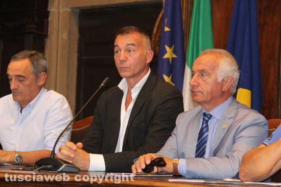 Viterbo - Santa Rosa 2018 - La conferenza in comune - Valentino, Ascenzi e Fiorillo