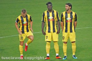 Sport - Calcio - Viterbese - Da sinistra: Vandeputte, Ngissah e Palermo