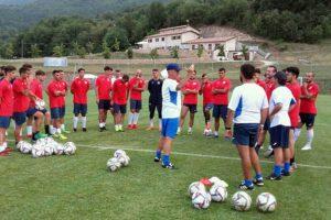 Sport - Calcio - Monterosi - La squadra in ritiro a Cascia