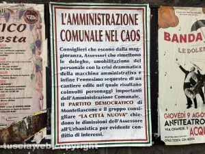 Montefiascone - Il manifesto affisso in paese