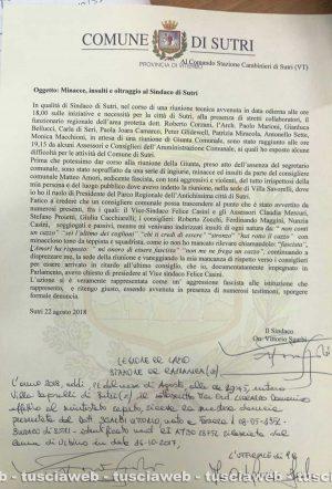 Sutri - L'esposto di Vittorio Sgarbi ai carabinieri