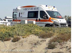 L'ambulanza a Pescia Romana