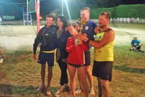 Sport - Beach volley - I vincitori del torneo di Torre Alfina