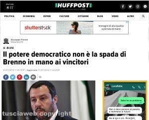Il blog del deputato del Pd Fioroni sull'Huffingtonpost