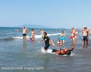 Montalto - Prove di salvataggio in mare