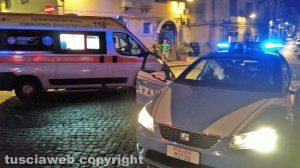 Viterbo - Polizia e 118 a San Faustino