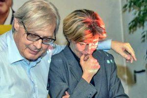 Vittorio Sgarbi e Candida Pittoritto