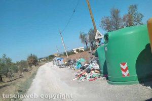 Viterbo - L'isola ecologica di strada Pian di Tortora