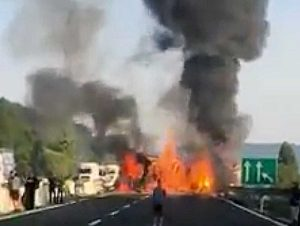 Incidente sulla A1 tra Orvieto e Fabro
