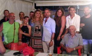 L'assessora Troncarelli con Quinto Mazzoni e gli organizzatori