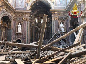 Roma - Crollo alla chiesa di san Giuseppe dei Falegnami