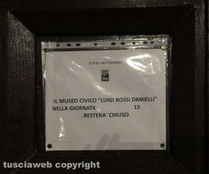 Viterbo - Il Museo Civico chiuso a Ferragosto