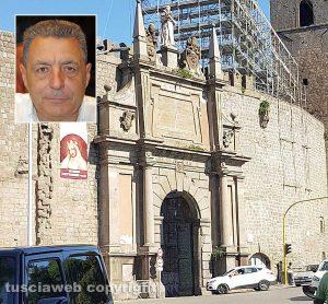 Viterbo - Porta Romana - Nel riquadro Giulio Marini