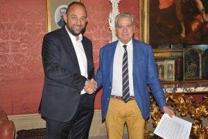 Sport - Calcio - Viterbese - Il direttore generale Diego Foresti col sindaco di Viterbo Giovanni Arena
