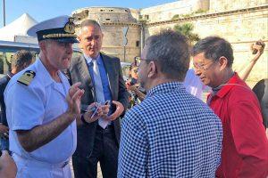 Civitavecchia - La tv di stato cinese in visita al porto