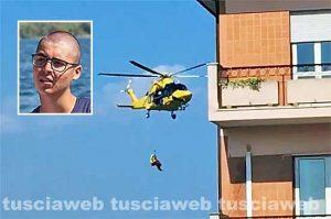 Anguillara - Scontro auto-motorino - L'intervento dell'elisoccorso - Nel riquadro: Alessandro Moretti